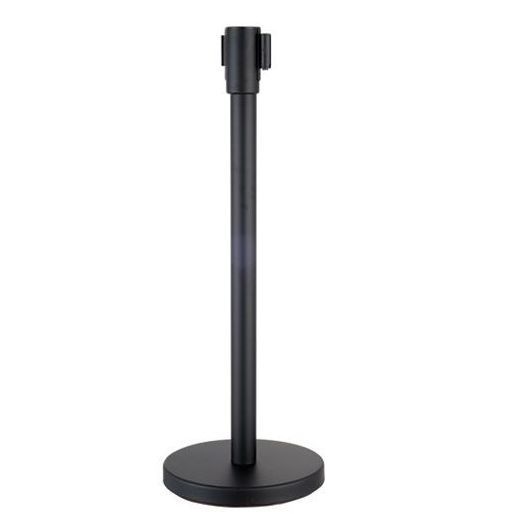Line Stand Post Retractable Queue Pole Crowd Control Barrier With Tape