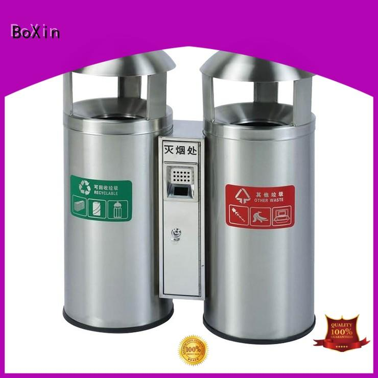 BoXin quality outdoor trash can cabinet garbage collection equipment for villa