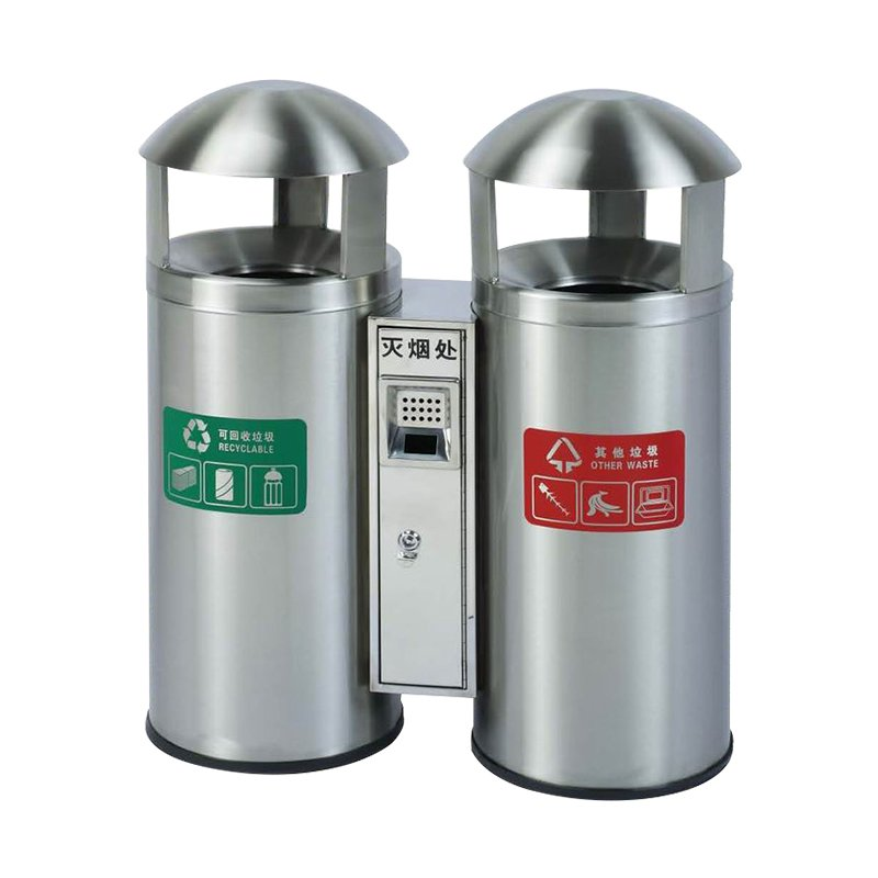 BoXin Round stainless steel trash can classification environmental protection Outdoor trash cans image10