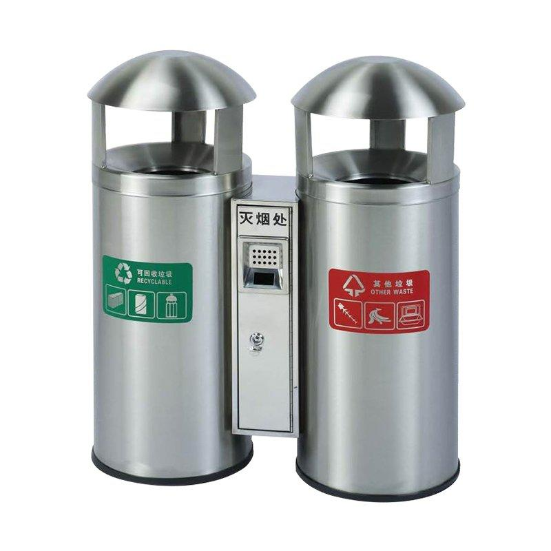 Round stainless steel trash can classification environmental protection