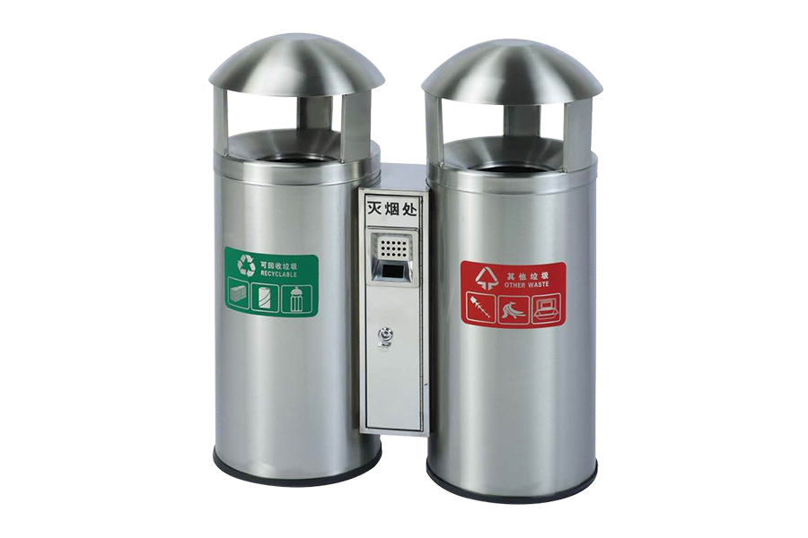 BoXin-Stainless Steel Trash Can Classification Environmental Protection