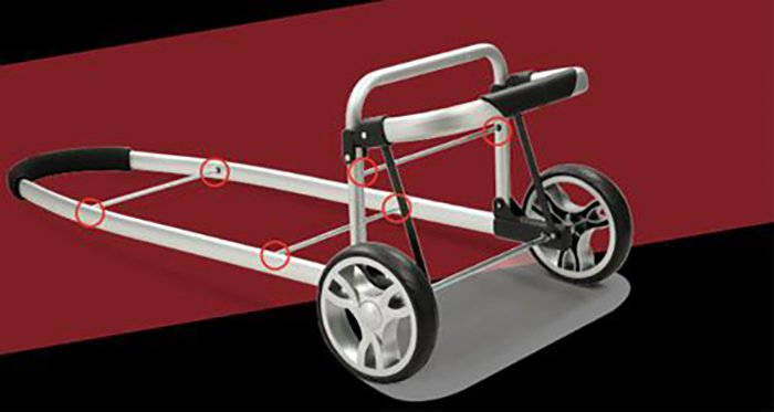 BoXin-Read Holiday travel portable luggage cart easy to accompany