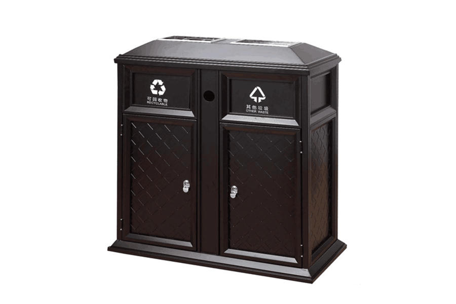 Breathable commercial outdoor garbage cans from for wholesale Hotel lobby