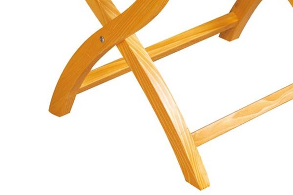 BoXin-Hotel Room Solid Wood Folding Modern Luggage Rack with Shelf-4