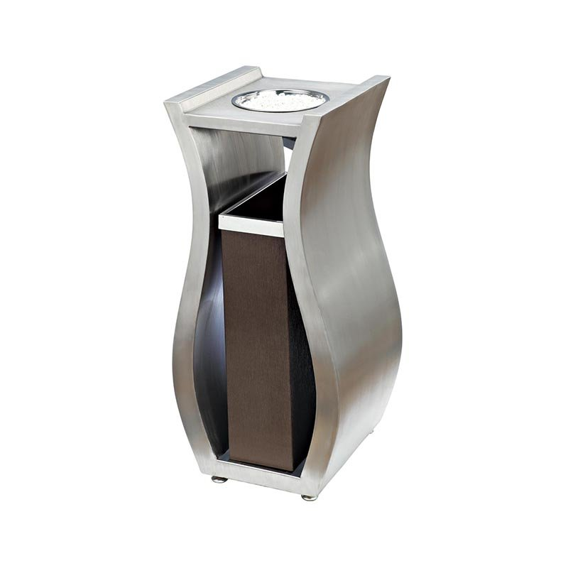 BoXin Chinese supplier novelty design stainless steel metal garbage container BX-A001B for sale Hotel trash can image20