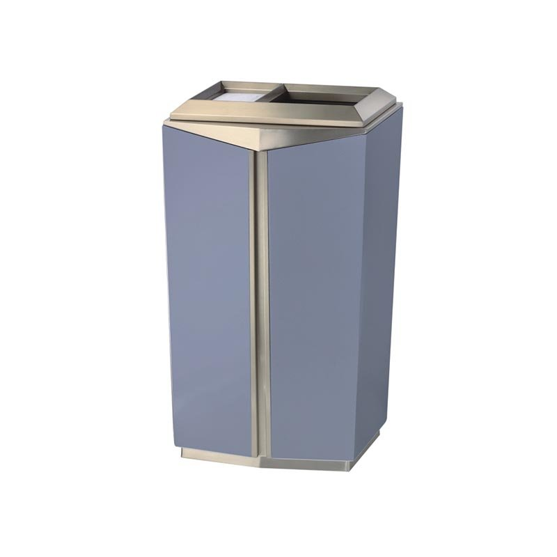 BoXin BOXIN Indoor high-grade stainless steel floor trash can for hotel Hotel trash can image19