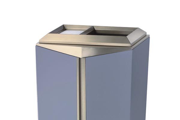 BoXin-Trash Can With Ashtray | Boxin Indoor High-grade Stainless Steel-1