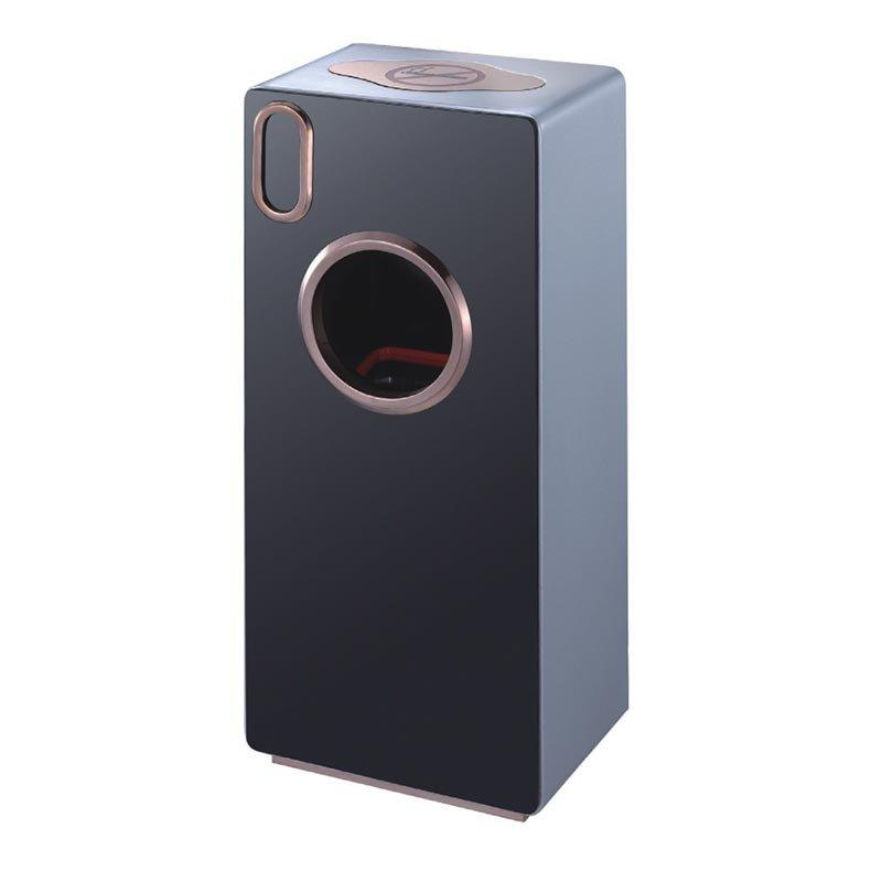 BOXIN Imported oak paint with smoke-proof function trash can for hotel