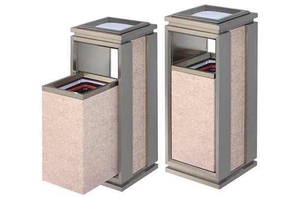 BoXin-Hotel Waste Bins Manufacture | Single Top Open Top Garbage Can-1