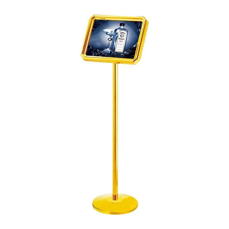 Hotel lobby bevel concierge sign stand guest proper dress required reception sing stand bevelled floor sign