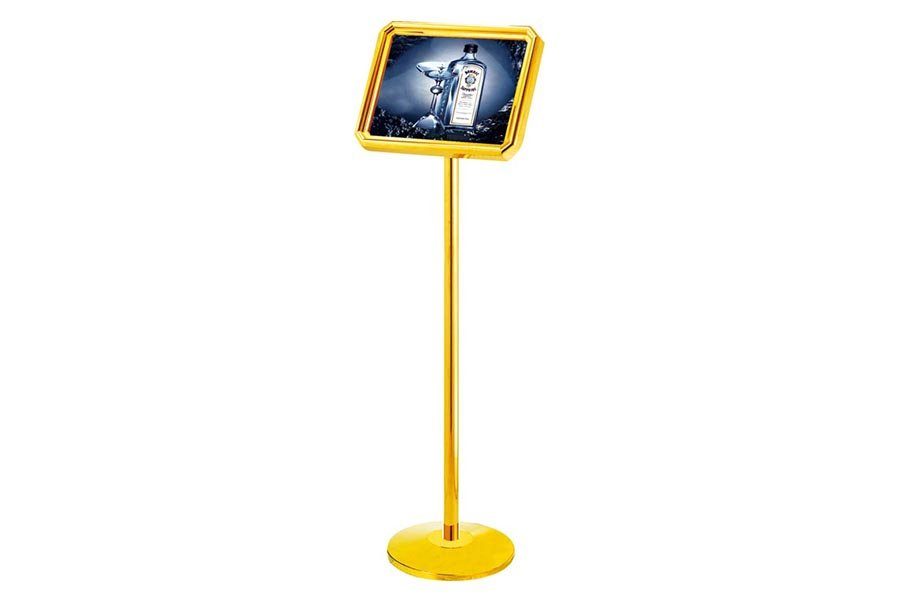 BoXin-Hotel Lobby Bevel Concierge Sign Stand Guest Reception Stand