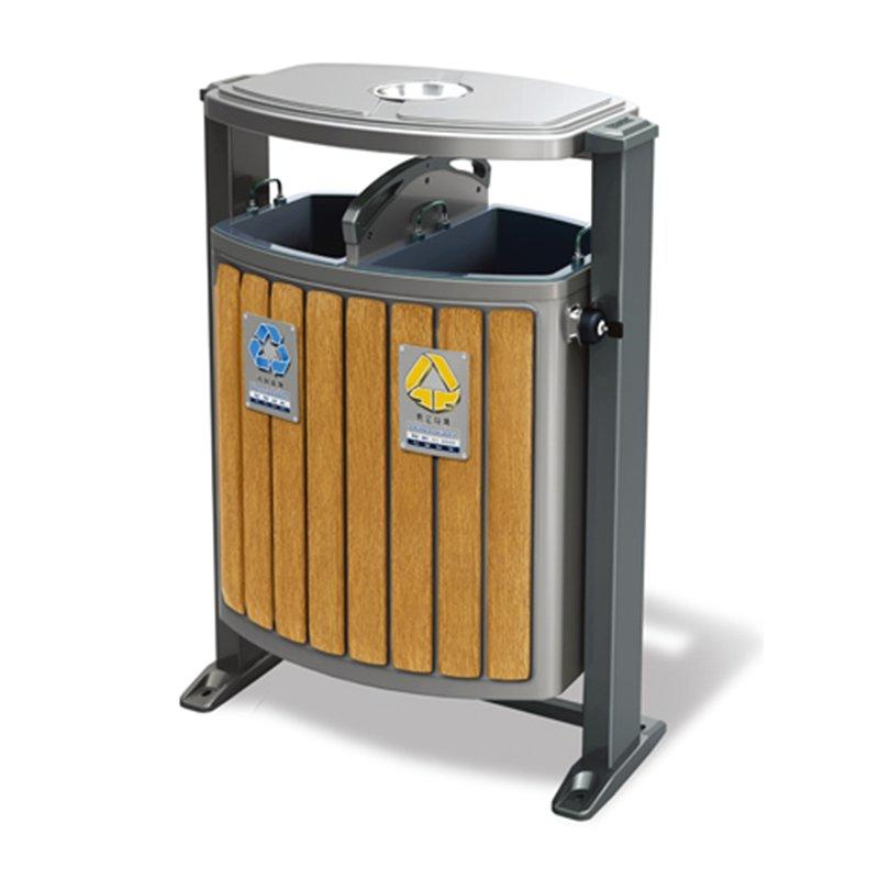 Outdoor metal trash can trash can outdoor sorting bins municipal sanitation die stamping