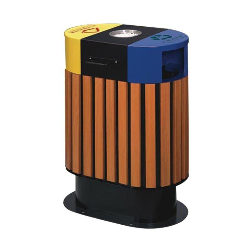 Buy wholesale outdoor wooden garbage trash bin direct from china