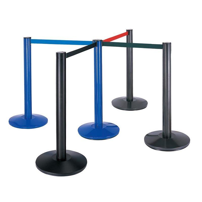 Aluminum tube Railing Stand queue stand retractable barrier tape hotel stanchion