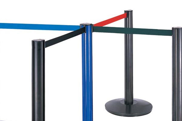 BoXin-Retractable Queue Pole Crowd Control Barrier With Tape-4