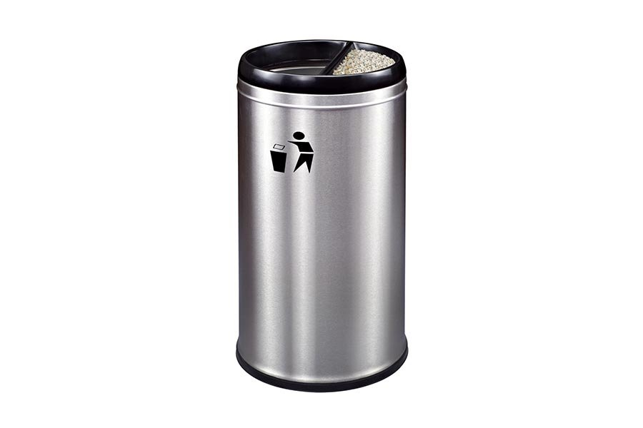 BoXin-Customized Wanda Plaza Frp Stainless Steel Trash Can With Logo
