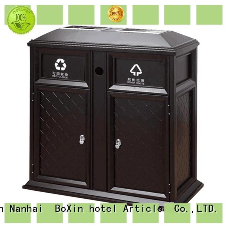 BoXin retro outdoor garbage bins garbage collection equipment for villa