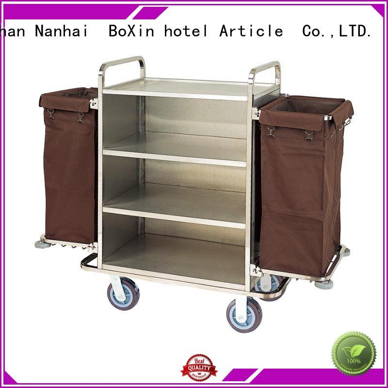 funky hotel service trolley towel bulk production for towel