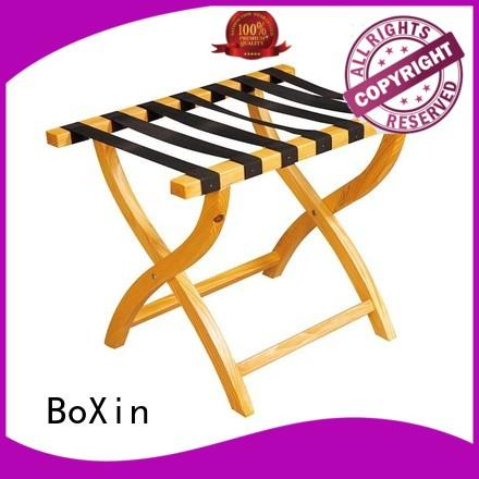 wooden luggage rack room folding BoXin company