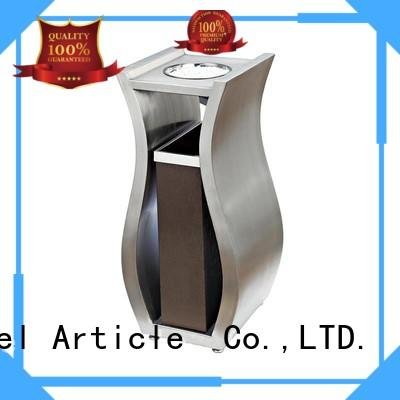 Chinese supplier novelty design stainless steel metal garbage container BX-A001B for sale