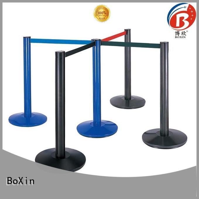 BoXin aluminum tube velvet rope stands supply for hotel