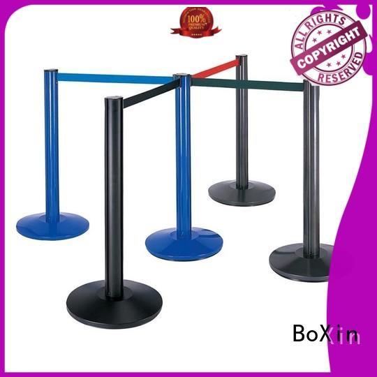aluminum velvet rope and stands hotel barrier BoXin Brand