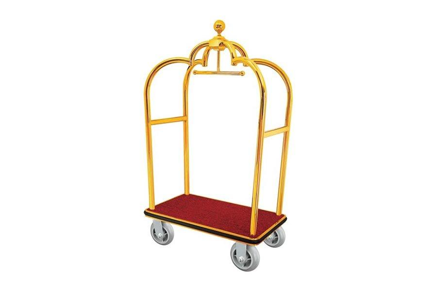 BoXin-Stainless Steel Luggage Trolley luggage Cart For Hotel hotel Luggage