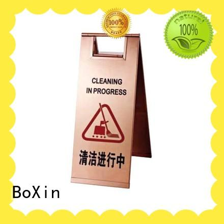 BoXin steel warning sign stand ODM for hotel sign