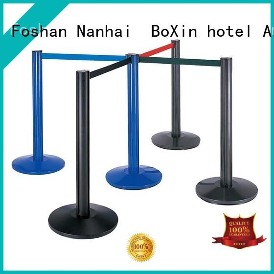 BoXin red velvet rope and stand company for queue pole crowd for control barrier