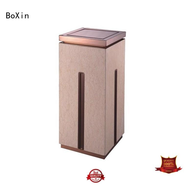 BoXin gold hotel trash can customization