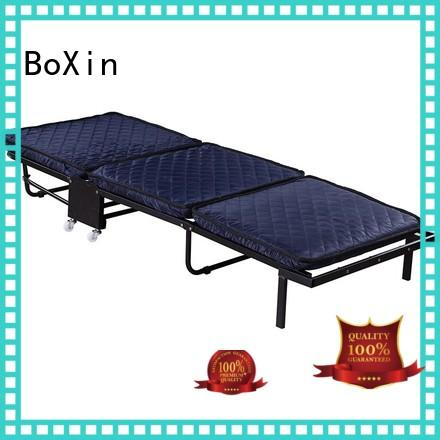 BoXin solid mesh portable fold up bed guest for hospital folding bed