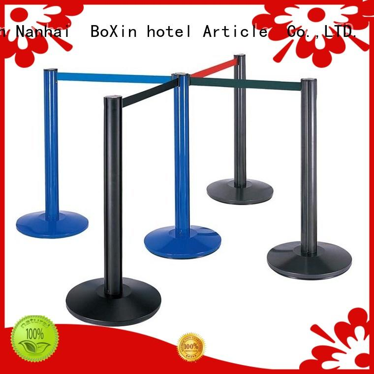 BoXin portable red velvet rope and stand OEM for line stand