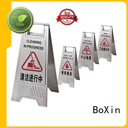 stop hotel sign stand reception BoXin company