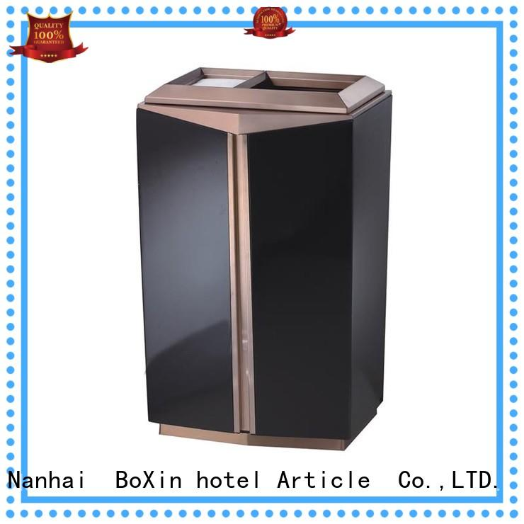 marble beige champagne indoor BoXin Brand hotel trash can supplier