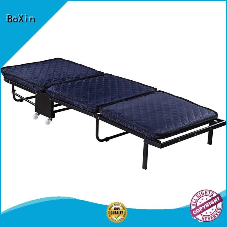 BoXin single folding rollaway bed ODM for guest
