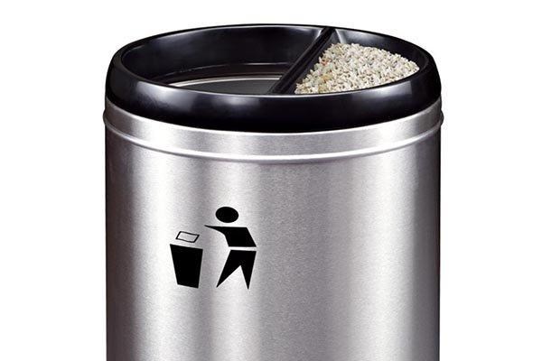 BoXin ground trash can with ashtray supplier-2