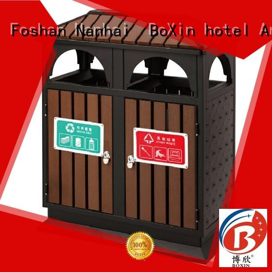 BoXin commercial outdoor garbage cans cover for hotel