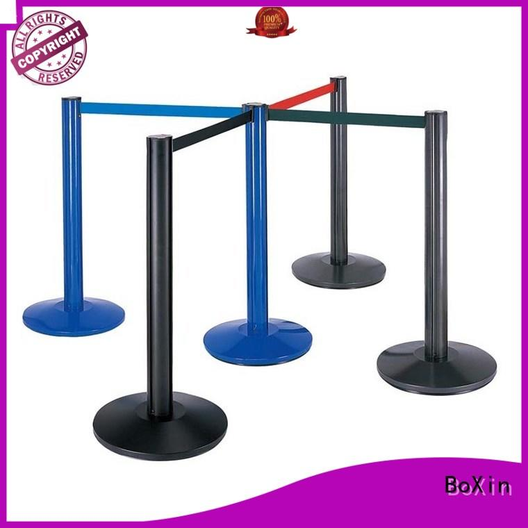 BoXin line velvet rope stands customization Queue Pole Crowd Control Barrier