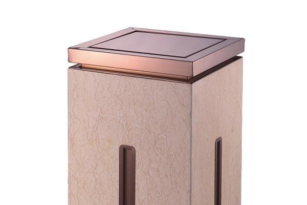 BoXin-Best Trash Can Ashtray Combo Indoor Square Garbage Can-1