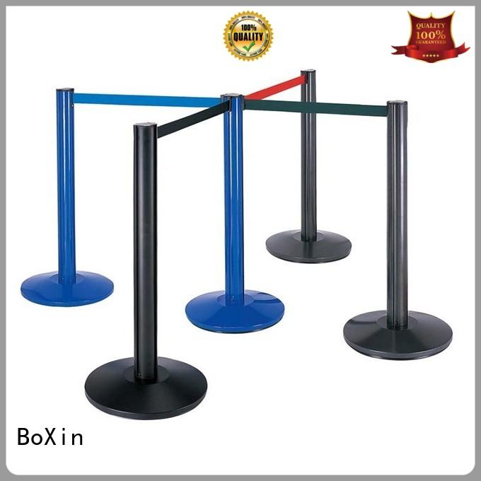 BoXin portable crowd control stands for wholesale Queue Pole Crowd Control Barrier