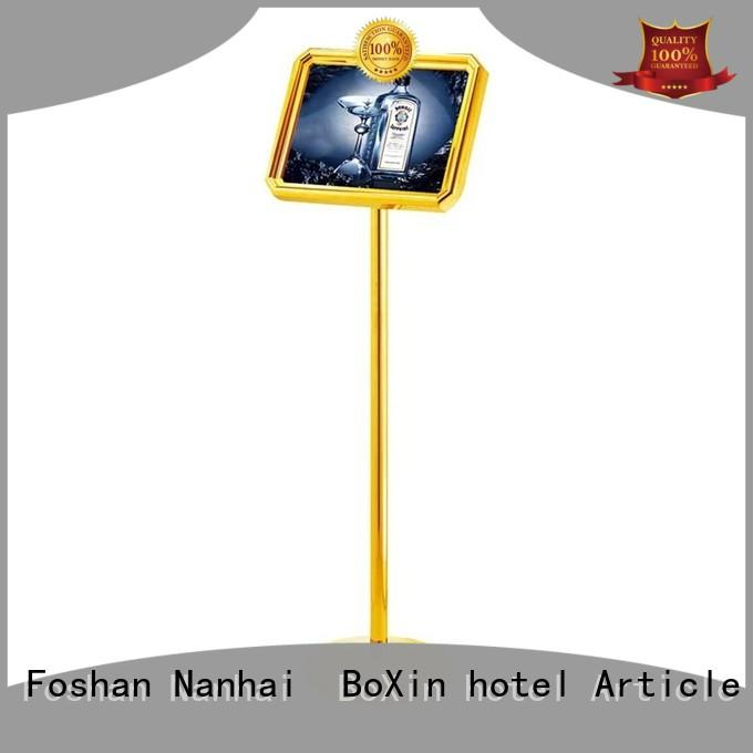 BoXin custom hotel sign stand concierge for public sign