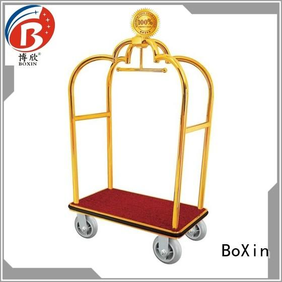 stainless hotel luggage cart wheels supply