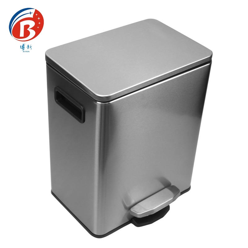 BX-C356 Stainless steel pedal dustbin office wastebin