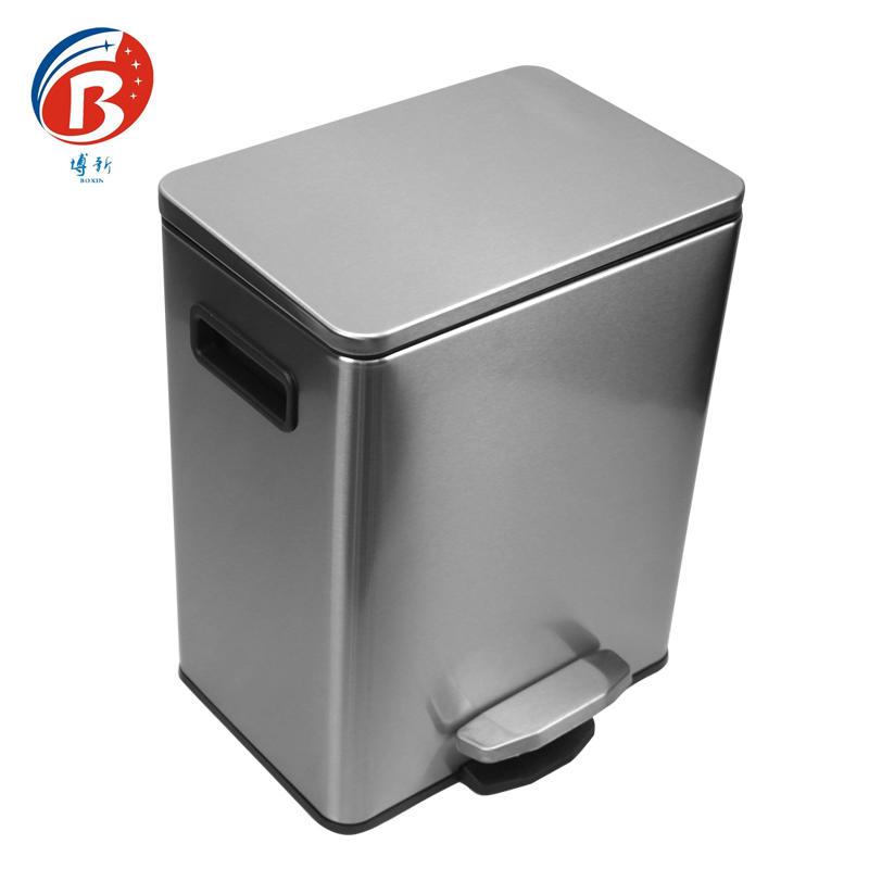 BX-C356 Stainless steel pedal dustbin office wastebin