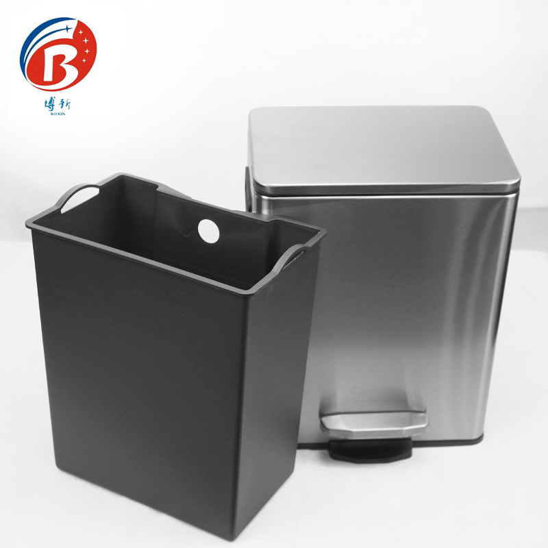 BoXin BX-C356 Stainless steel pedal dustbin office wastebin Room trash can image24