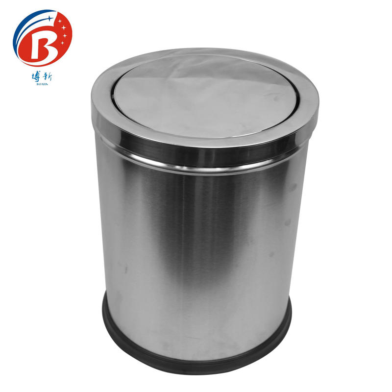 BX-C314Indoor usagae stainless steel rubbish barrels