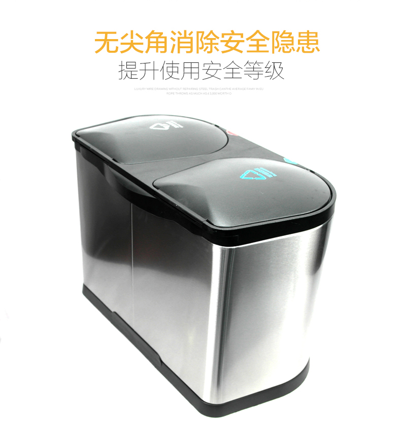 BoXin hotel supplies standing room lobby stainless steel trash can,hotel trash bin Room trash can image21
