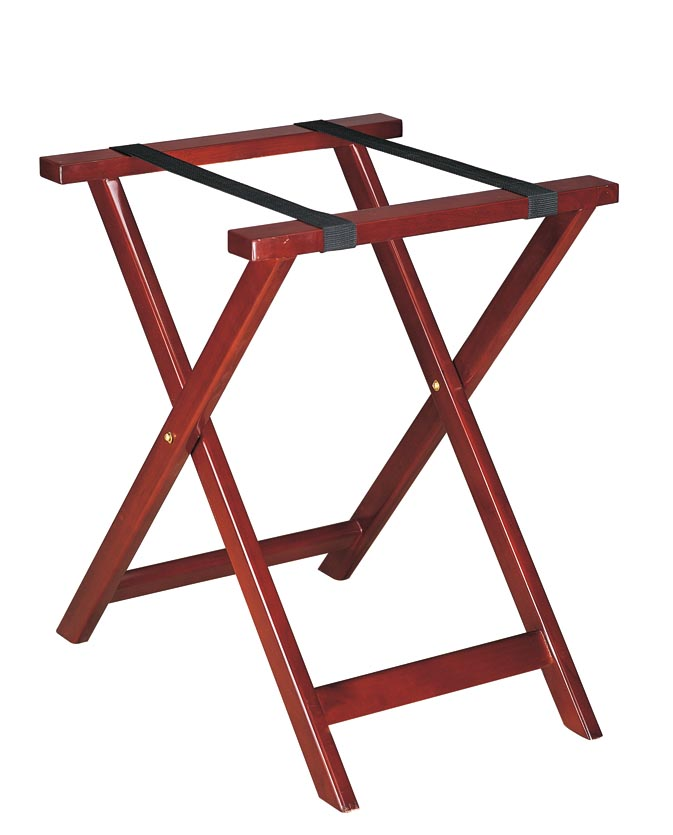 BoXin-Hotel Room Solid Wood Folding Modern Luggage Rack with Shelf-2