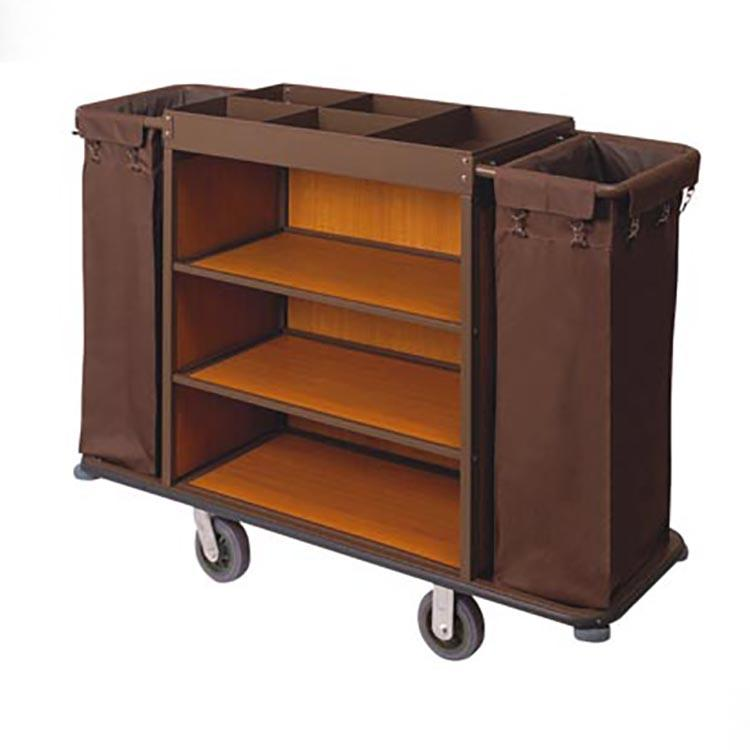 Hotel room service trolley  hospitality service cart,wooden service trolley