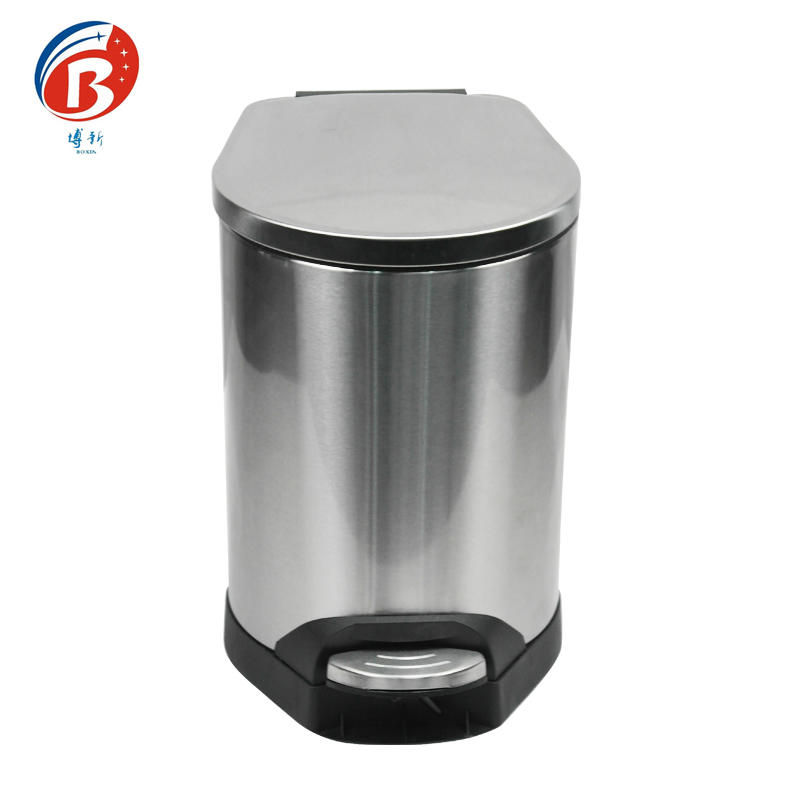 Stainless steel metal hotel room waste bin,pedal dustbin